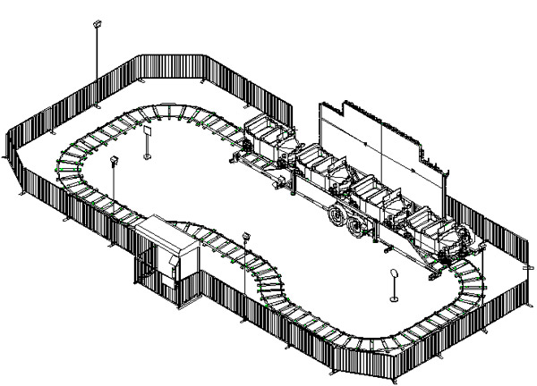 Track Rides Isometric View